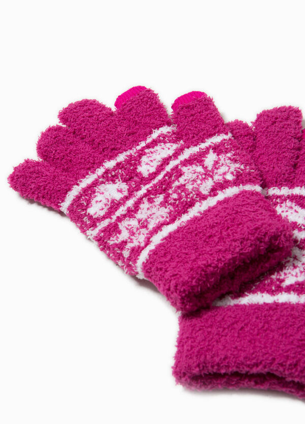Stretch embroidered gloves | OVS