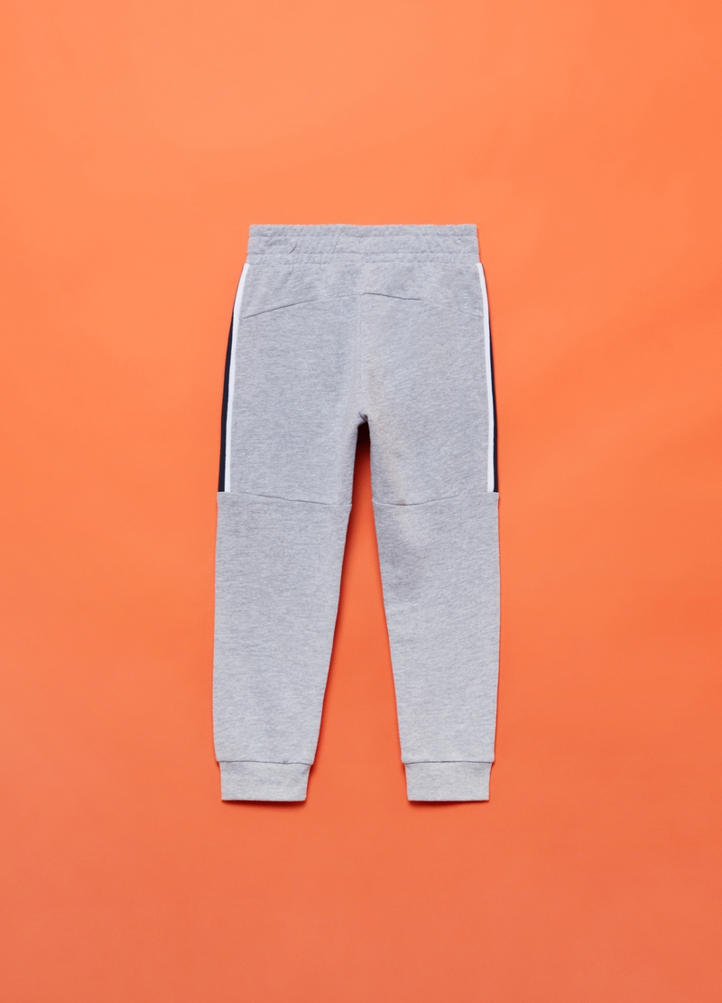 Joggers in French Terry con profilo rigato image number null