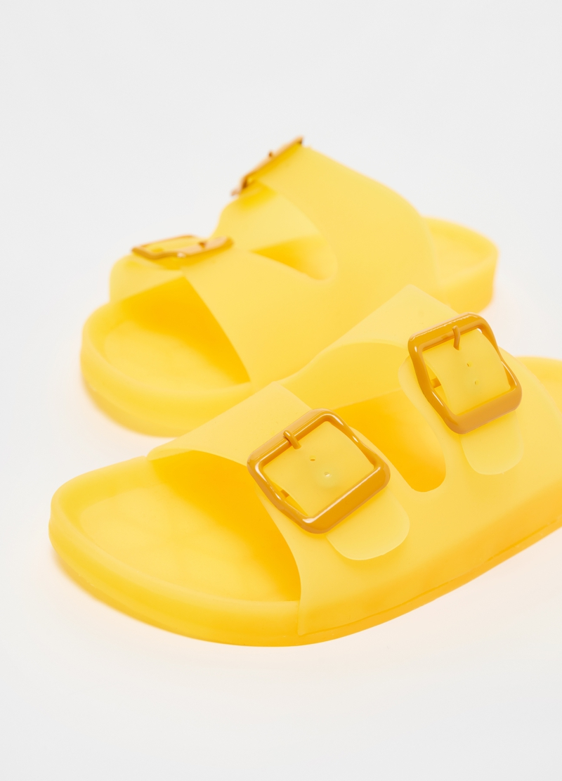 Jelly sandals with double strap image number null