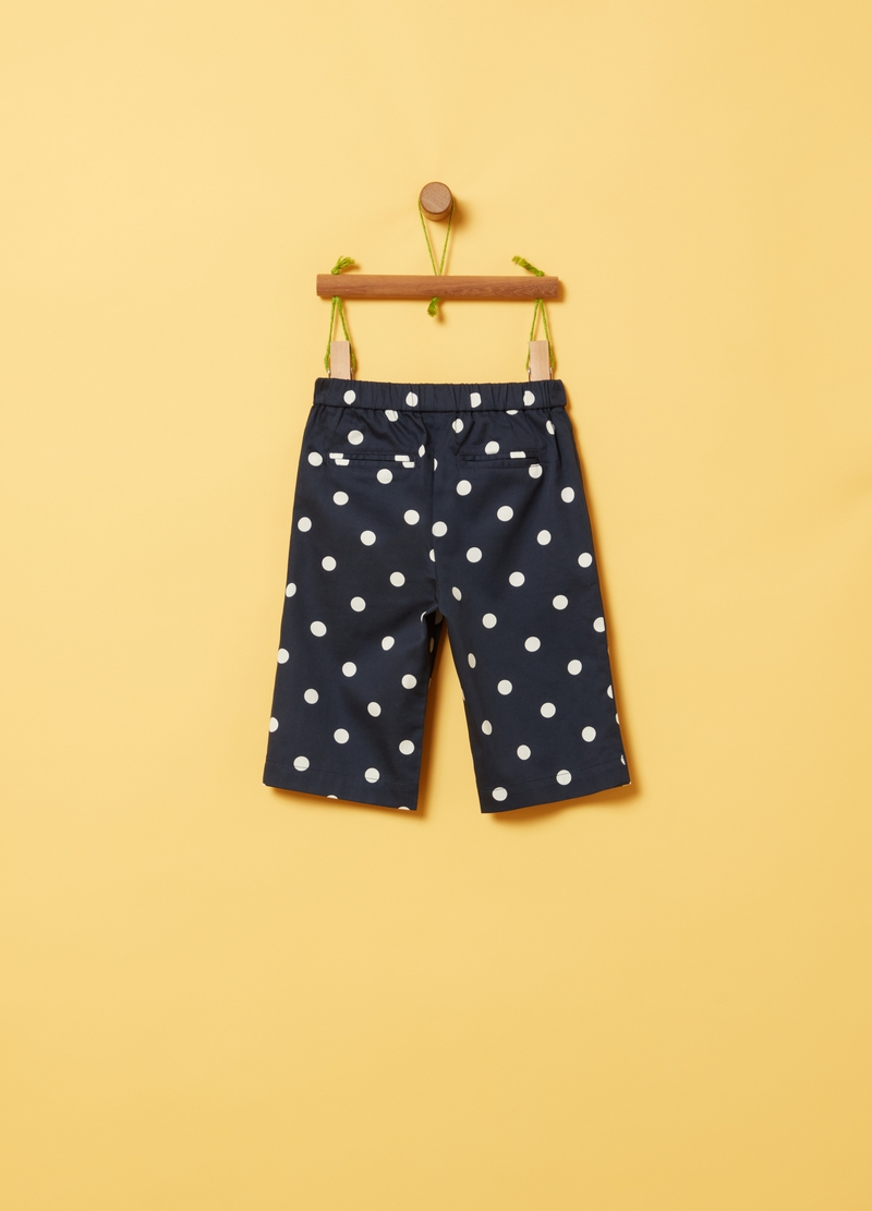 Joggers puro cotone a pois image number null