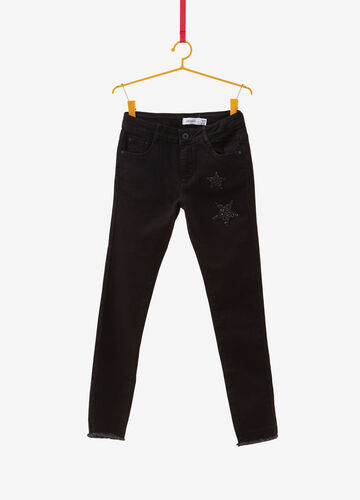Skinny-fit jeans with glitter stars