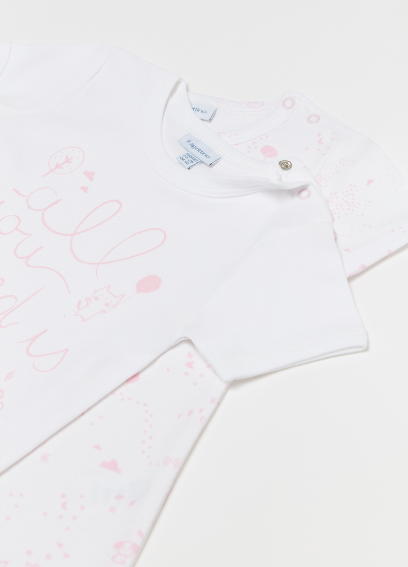 Set due t-shirt intime stampa e fantasia image number null