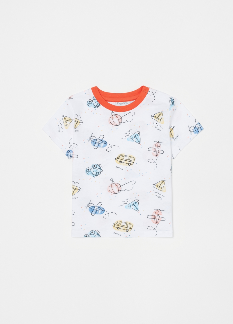 Pyjamas with T-shirt and trousers with pattern image number null