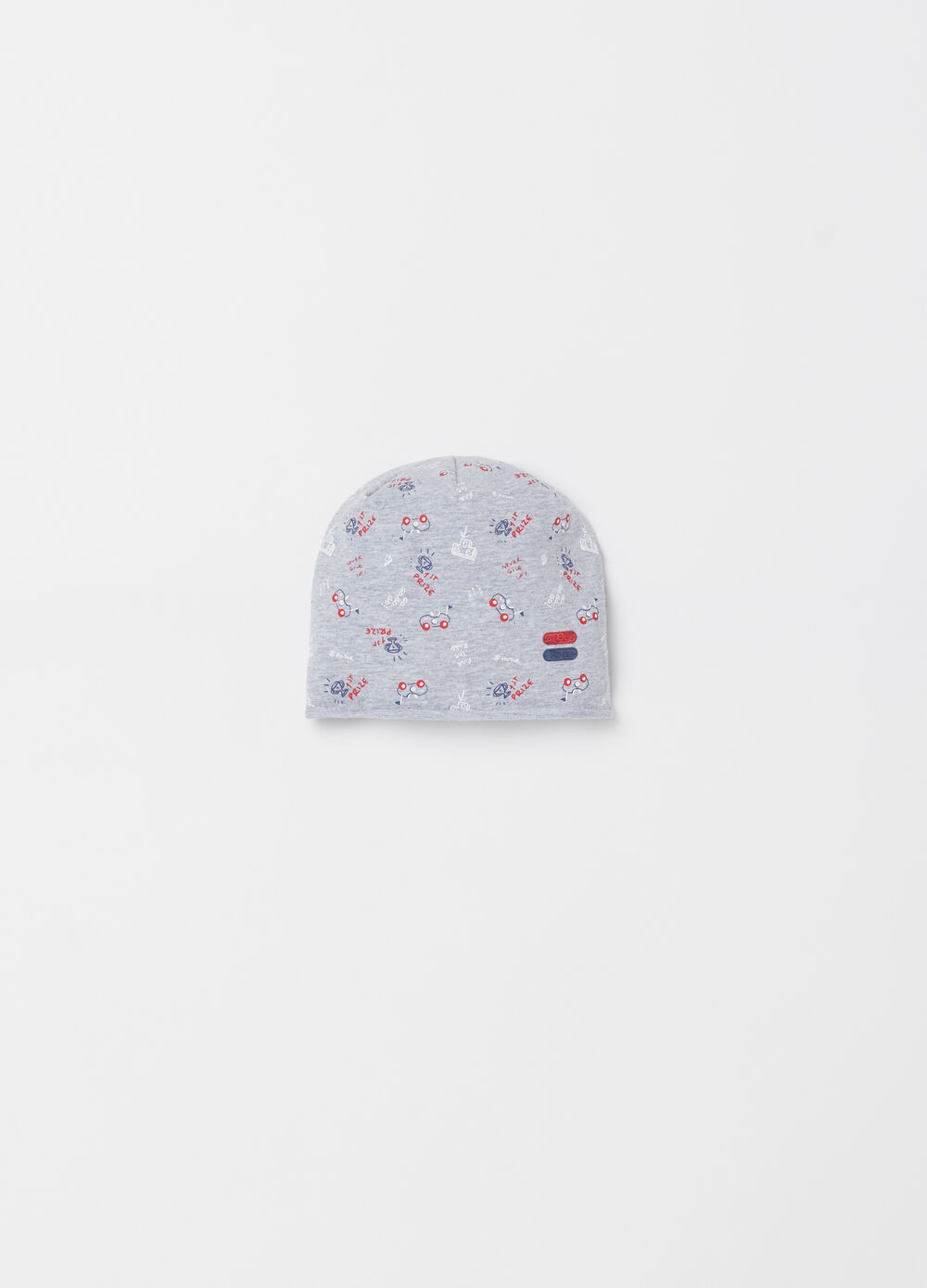 Cotton cap with pattern