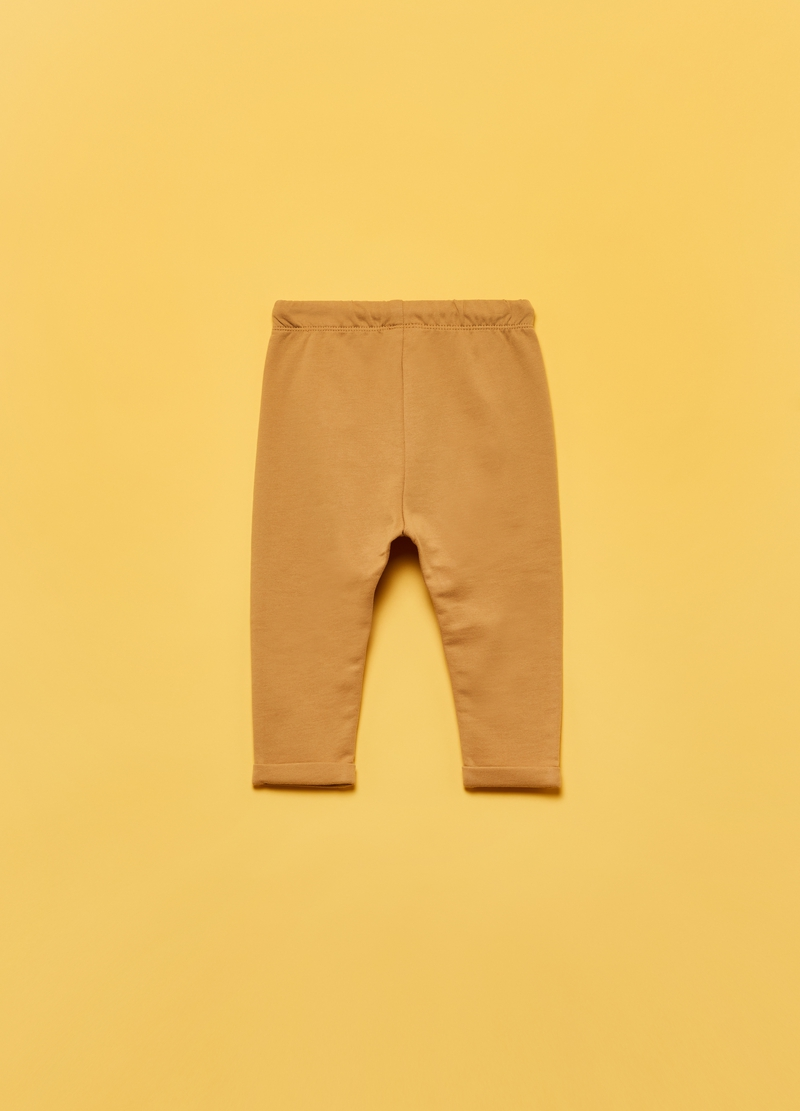 100% cotton joggers with pouch pocket image number null