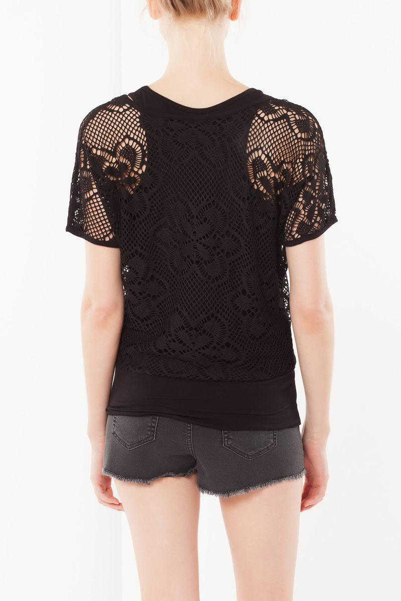 Lace T-shirt with top image number null