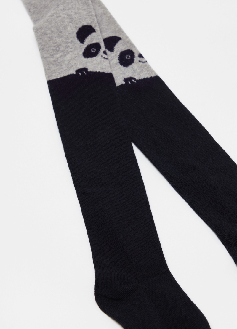 Collant in cotone stretch panda image number null