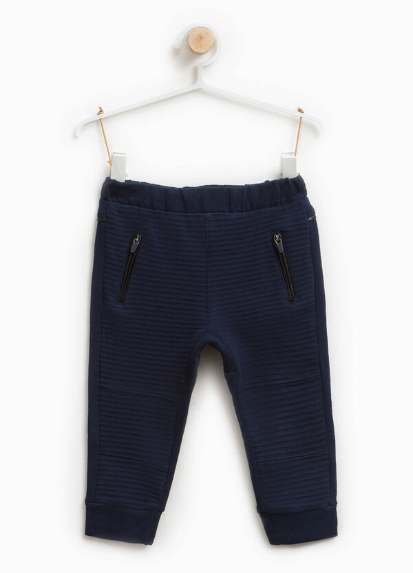 100% cotton jacquard trousers | OVS