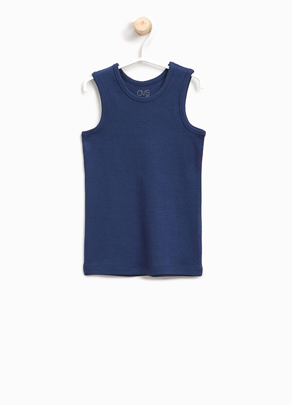 Ribbed organic cotton under vest | OVS