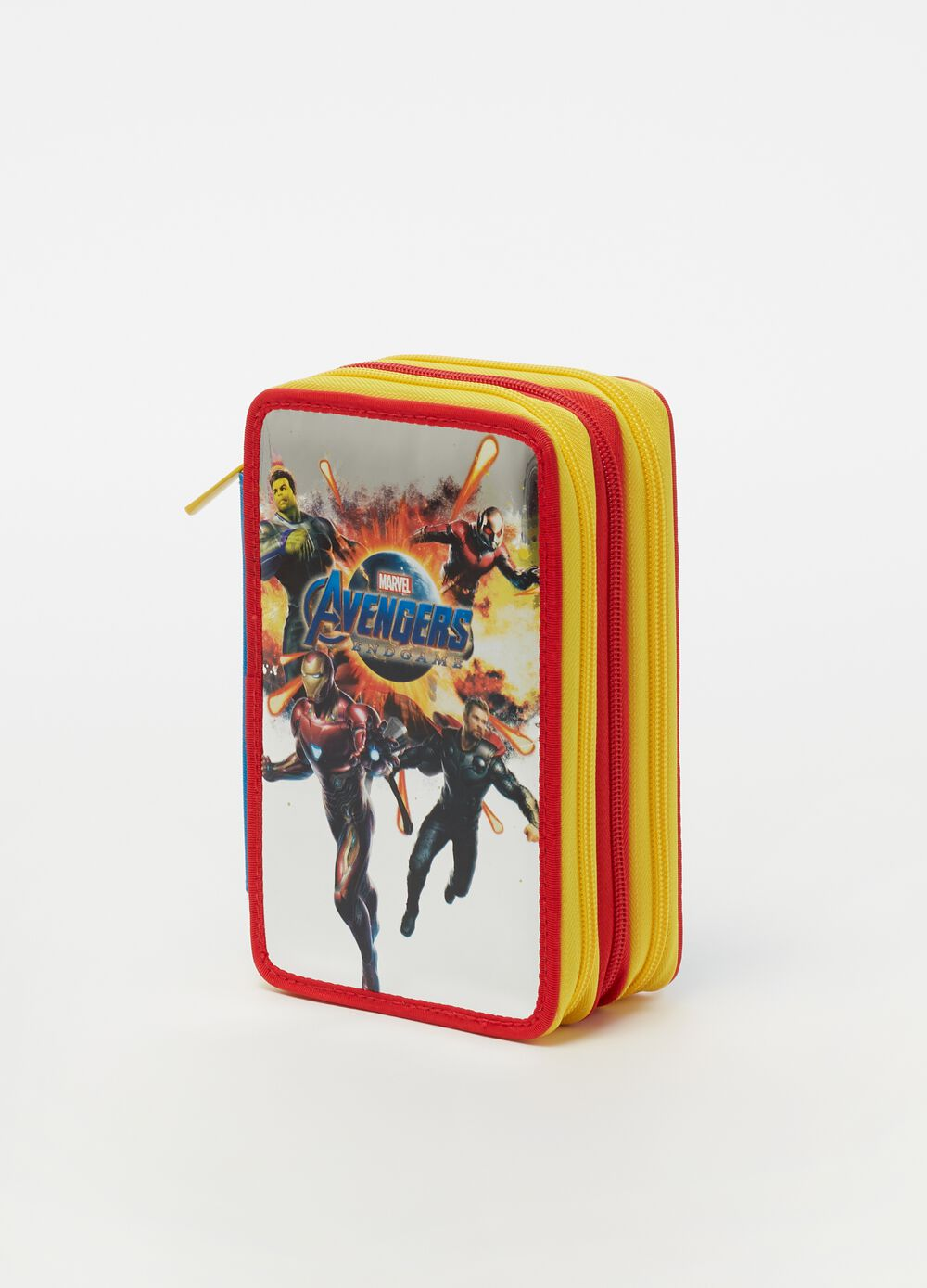 Avengers Endgame pencil case with 3 zips