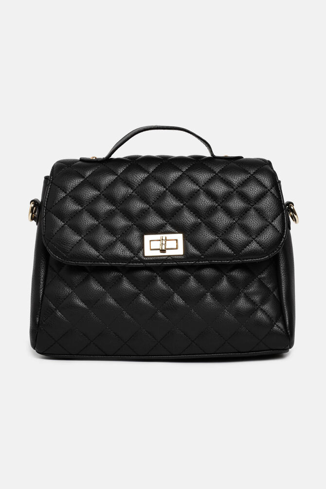 Quilted bag with shoulder strap