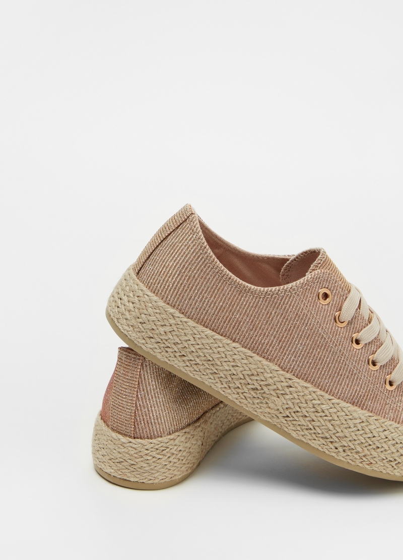 Sneakers glitterate suola alta image number null