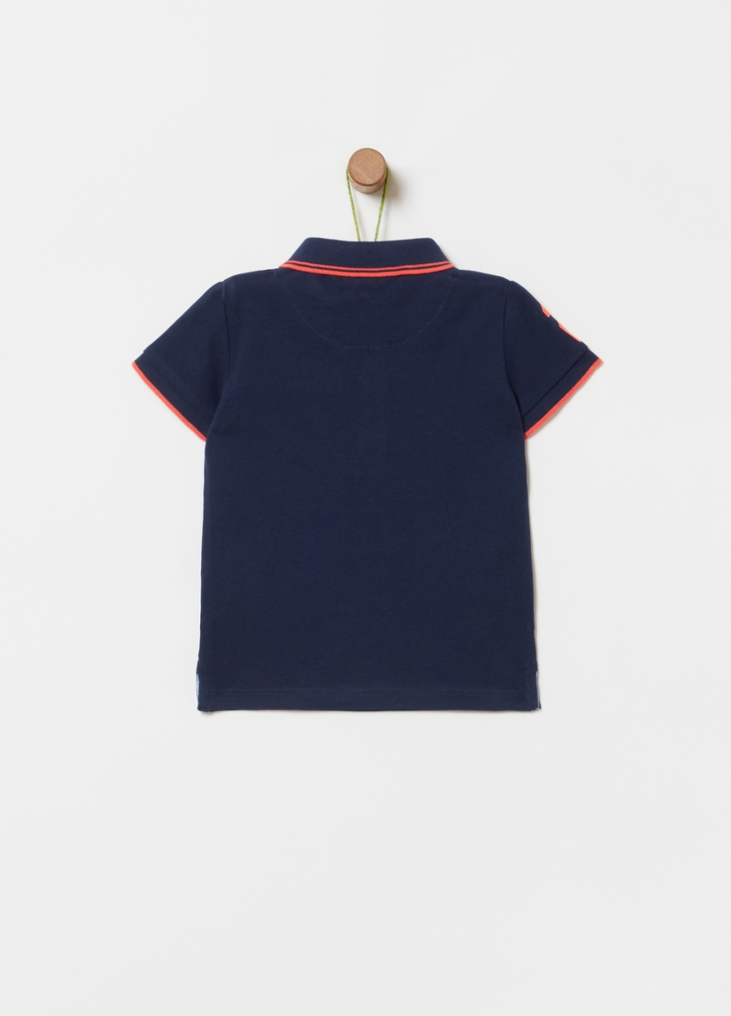 Organic cotton piquet polo shirt image number null