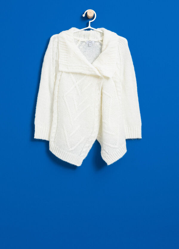 Wool and mohair blend knitted cardigan | OVS