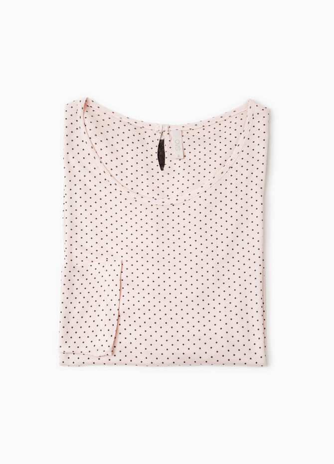 Lace pyjama top with polka dots