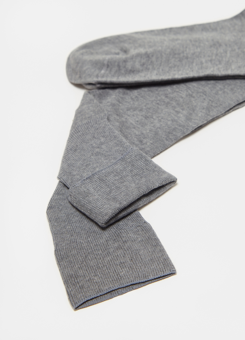 Long socks in cotton and silk image number null