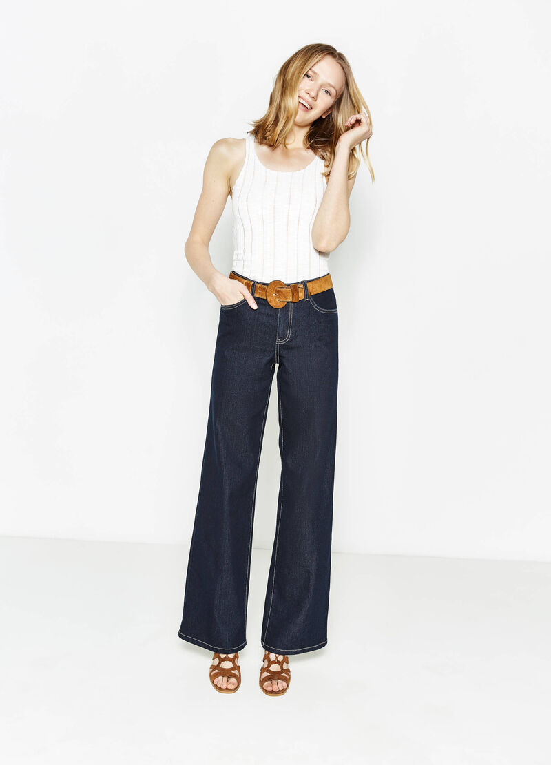 Flared-fit stretch jeans