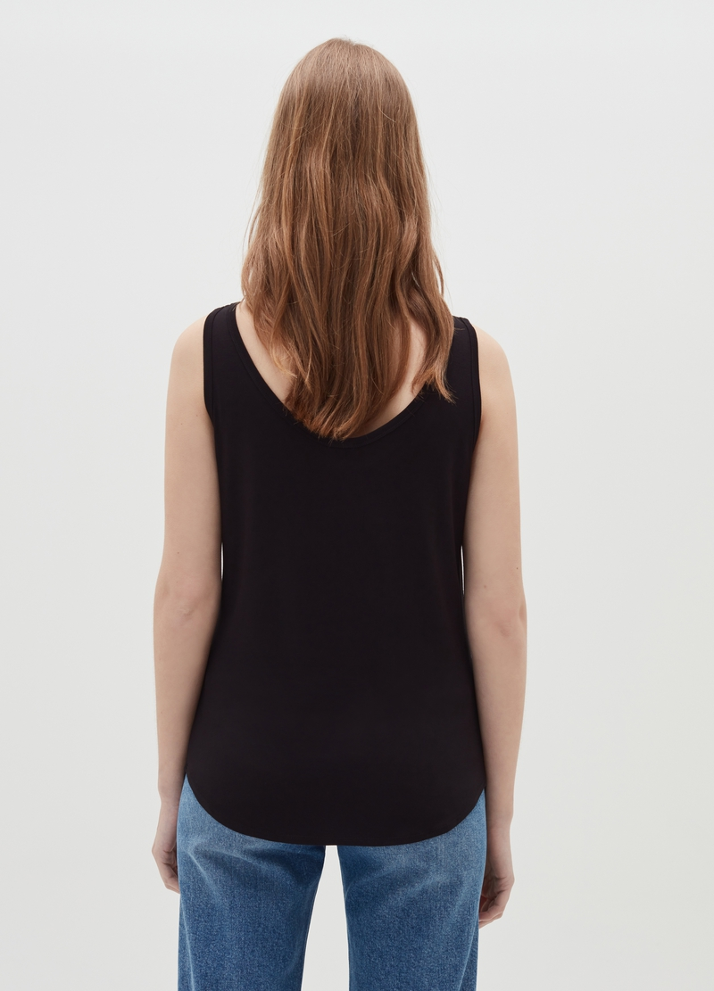 Tank top in viscosa stretch image number null