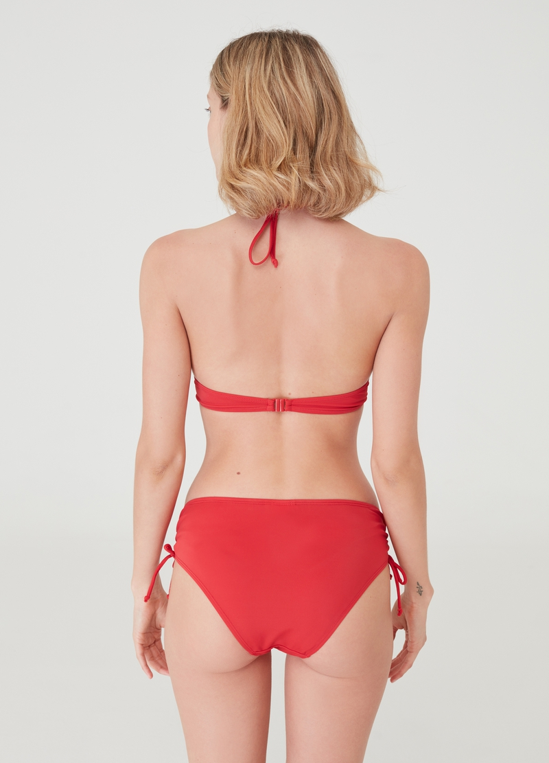High-waisted bikini briefs with drawstring image number null