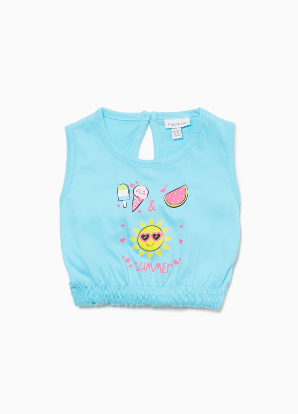 Printed sleepsuit in 100% cotton