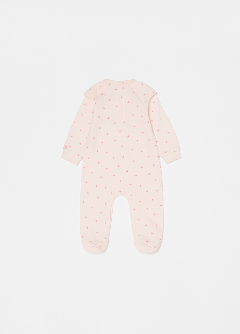 Disney Minnie Mouse onesie with feet and pattern image number null