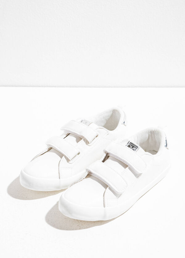 Textured-effect sneakers with rips | OVS
