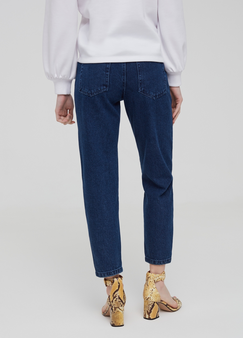 Five-pocket, mum-fit jeans image number null