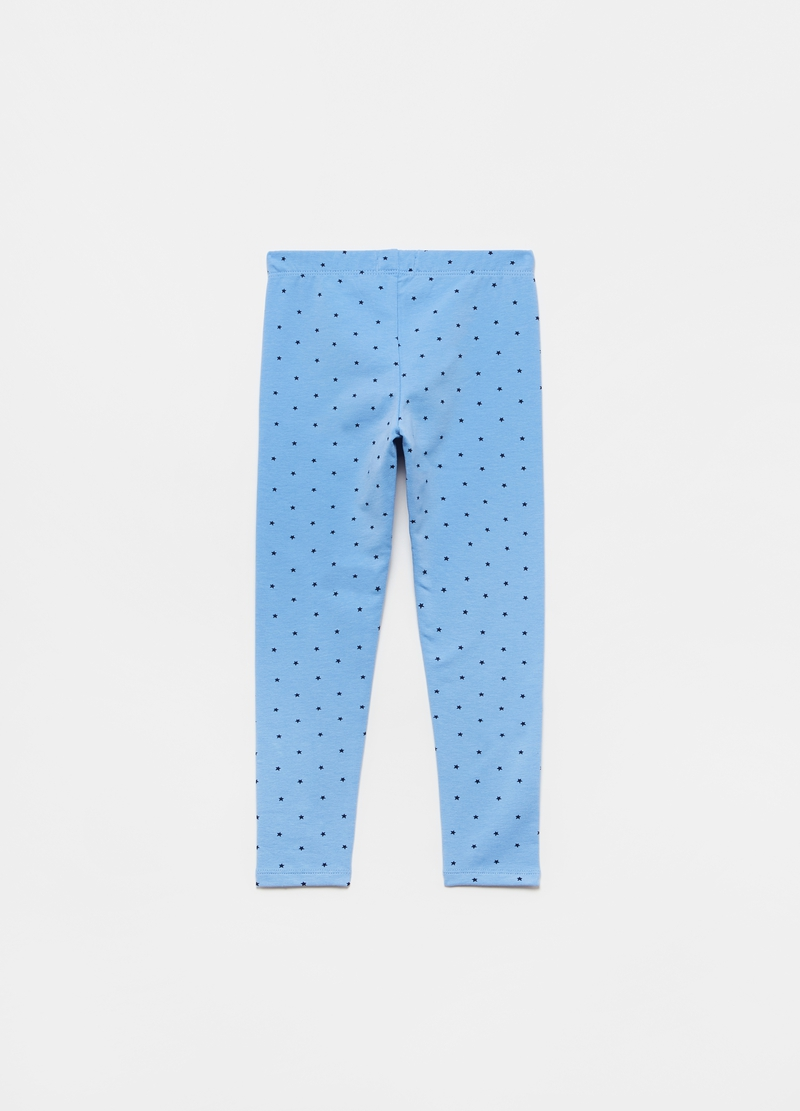 Leggings with all-over small stars print image number null
