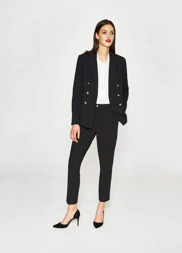 Double-breasted blazer with lapels