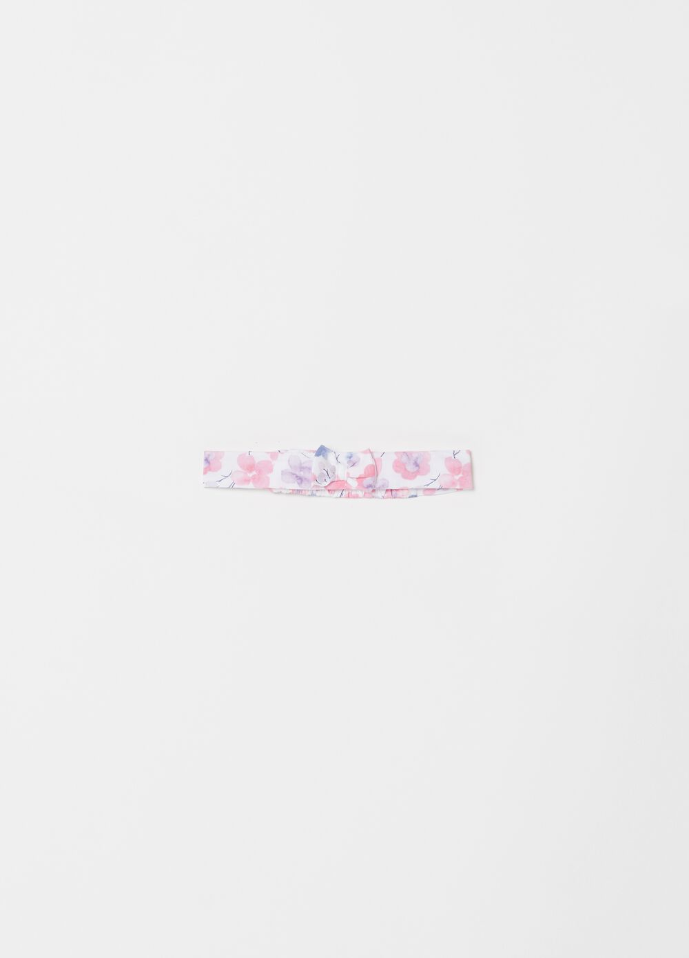 Floral hairband with bow