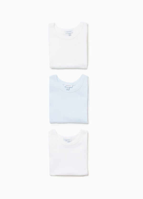 Three-pack sleeveless bodysuits in cotton