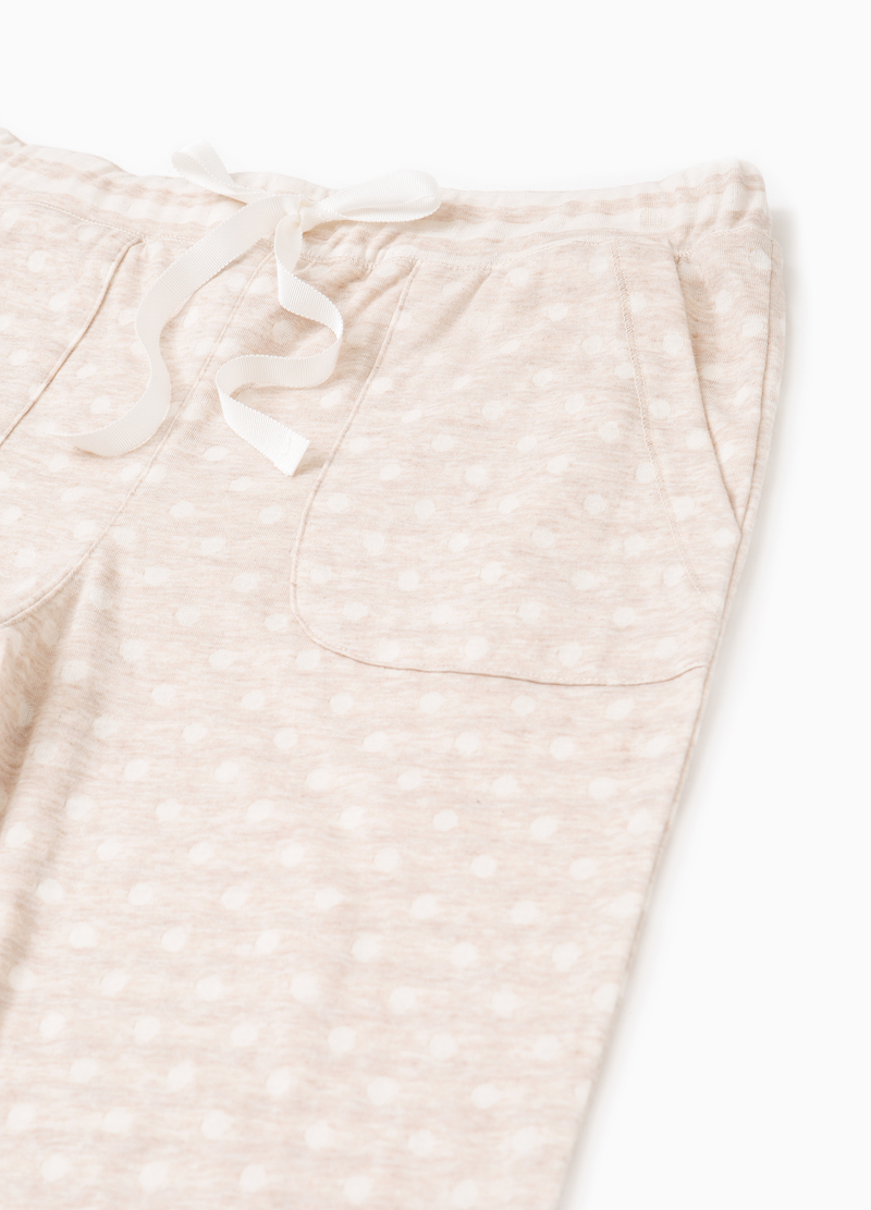 Polka dot pyjama trousers in cotton image number null