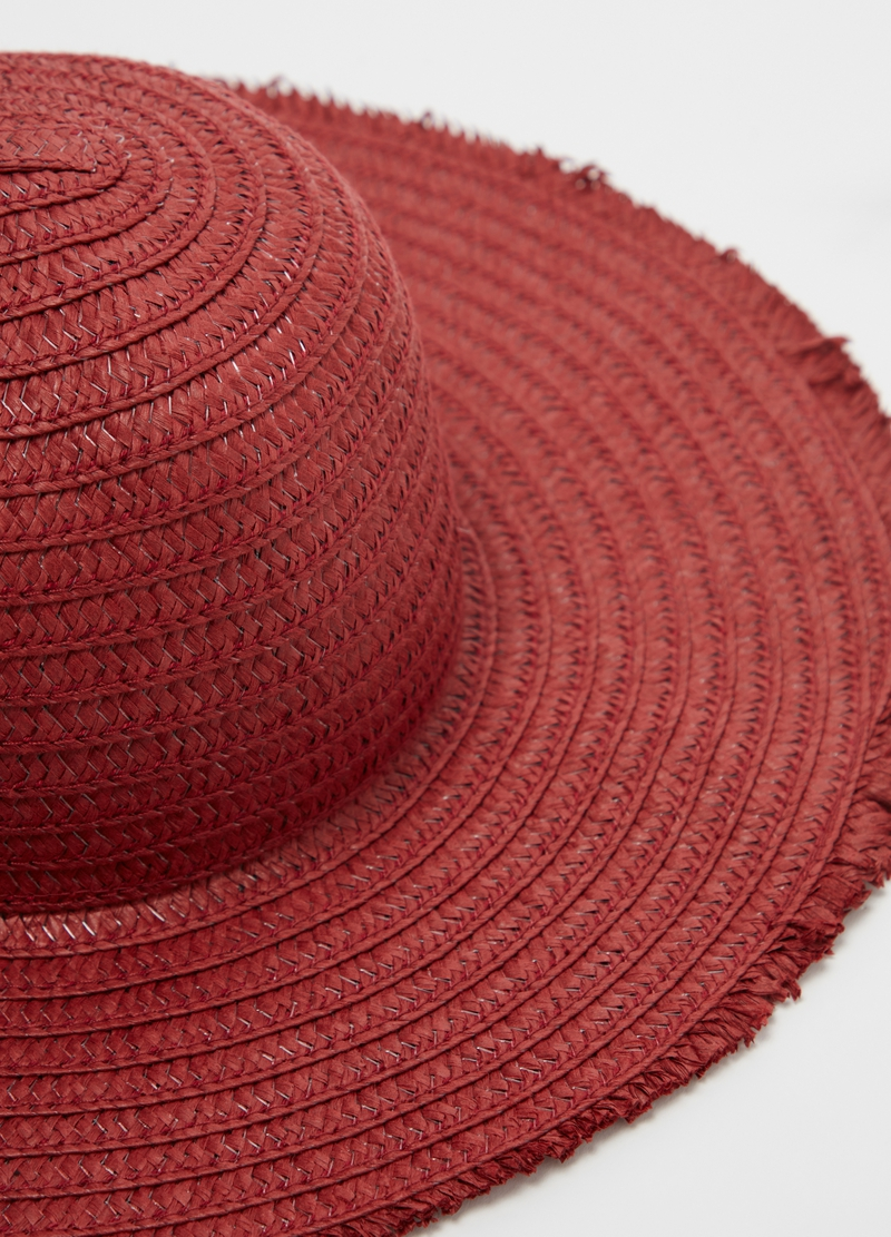 Wide-brimmed straw hat image number null