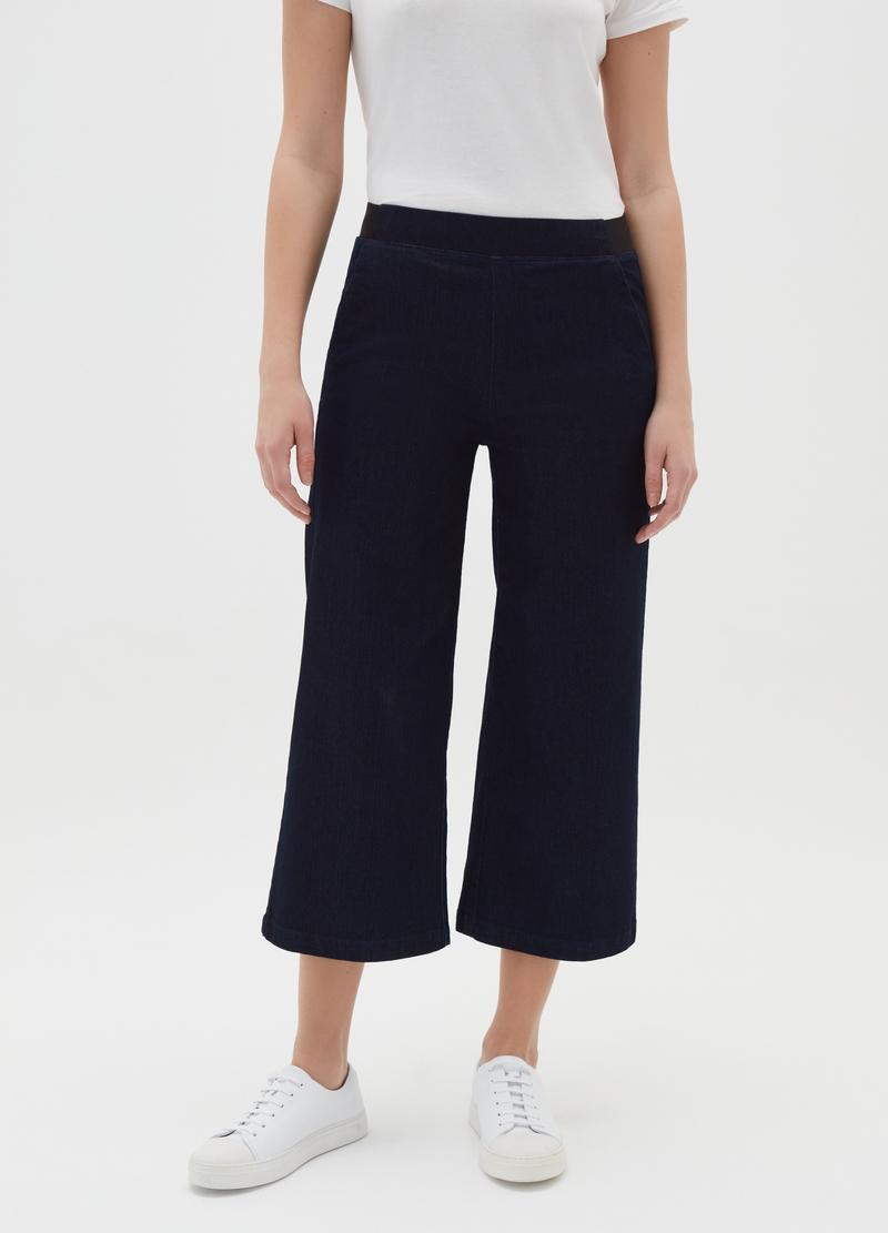 Stretch wide-fit jeggings with pockets image number null