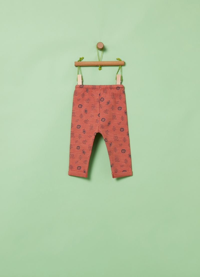 Organic cotton joggers with all-over print image number null