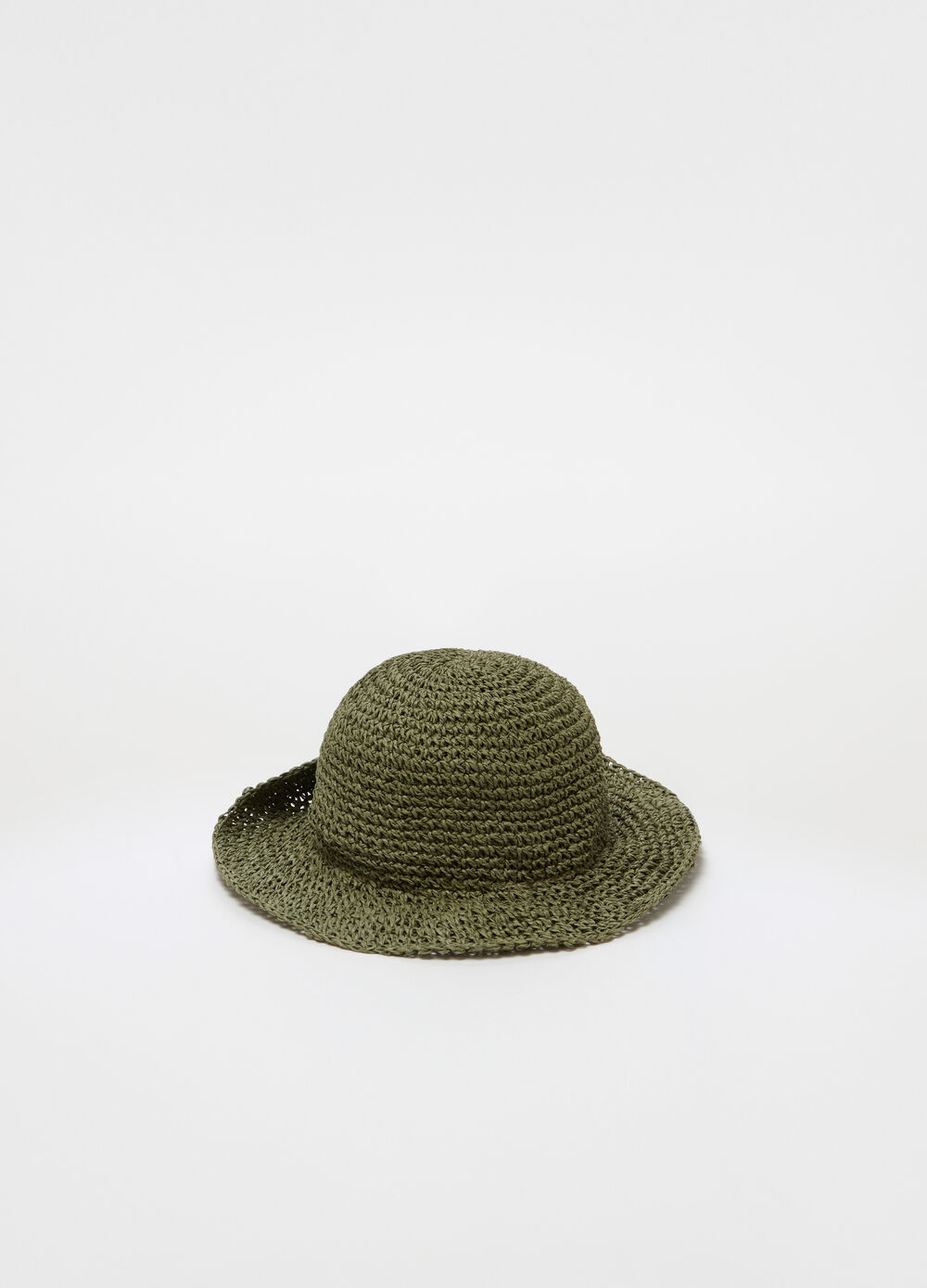 Fedora hat with striped weave
