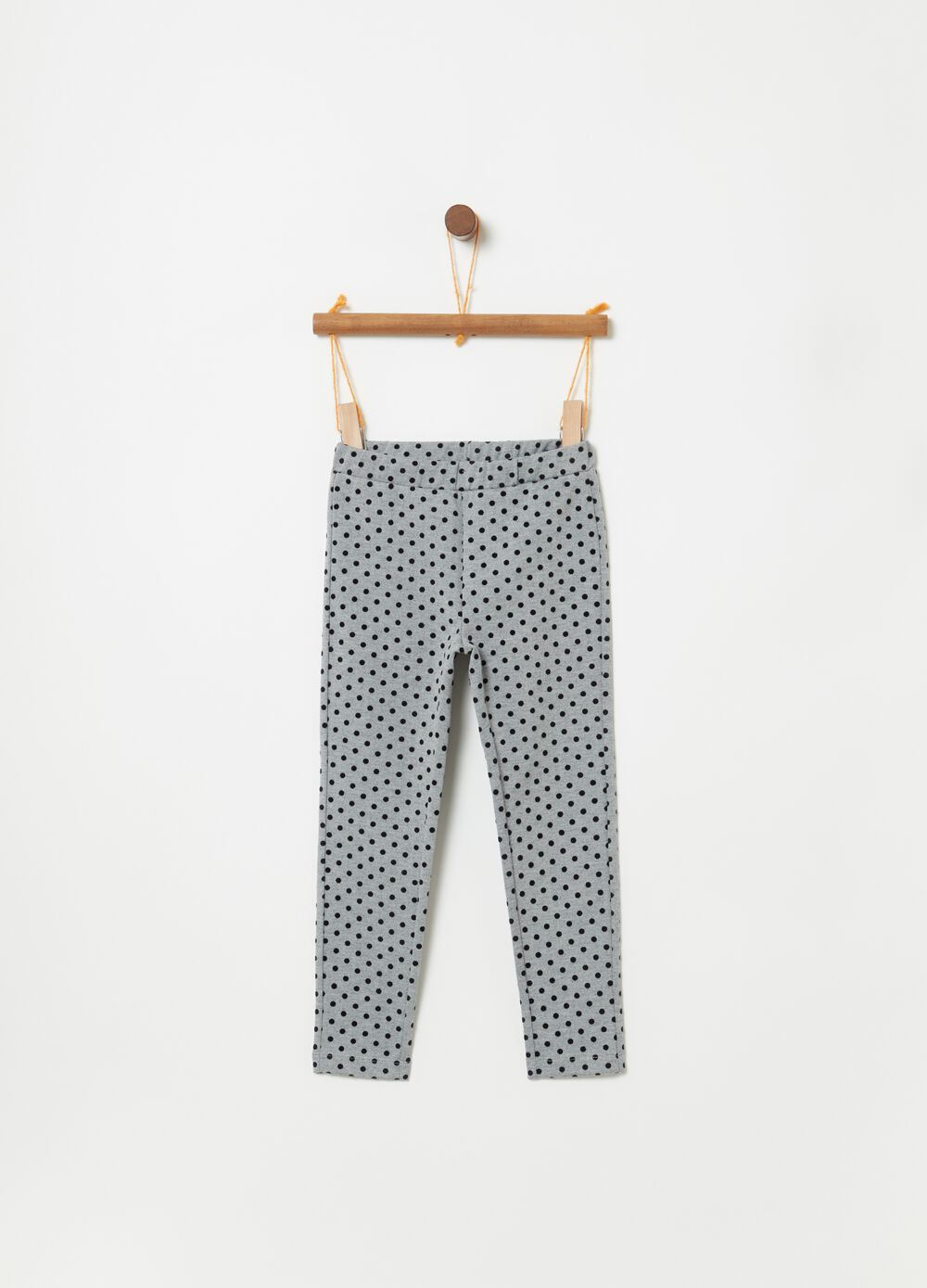 Leggings stampa a pois all-over