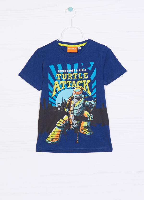 T-shirt cotone stampa Ninja Turtles