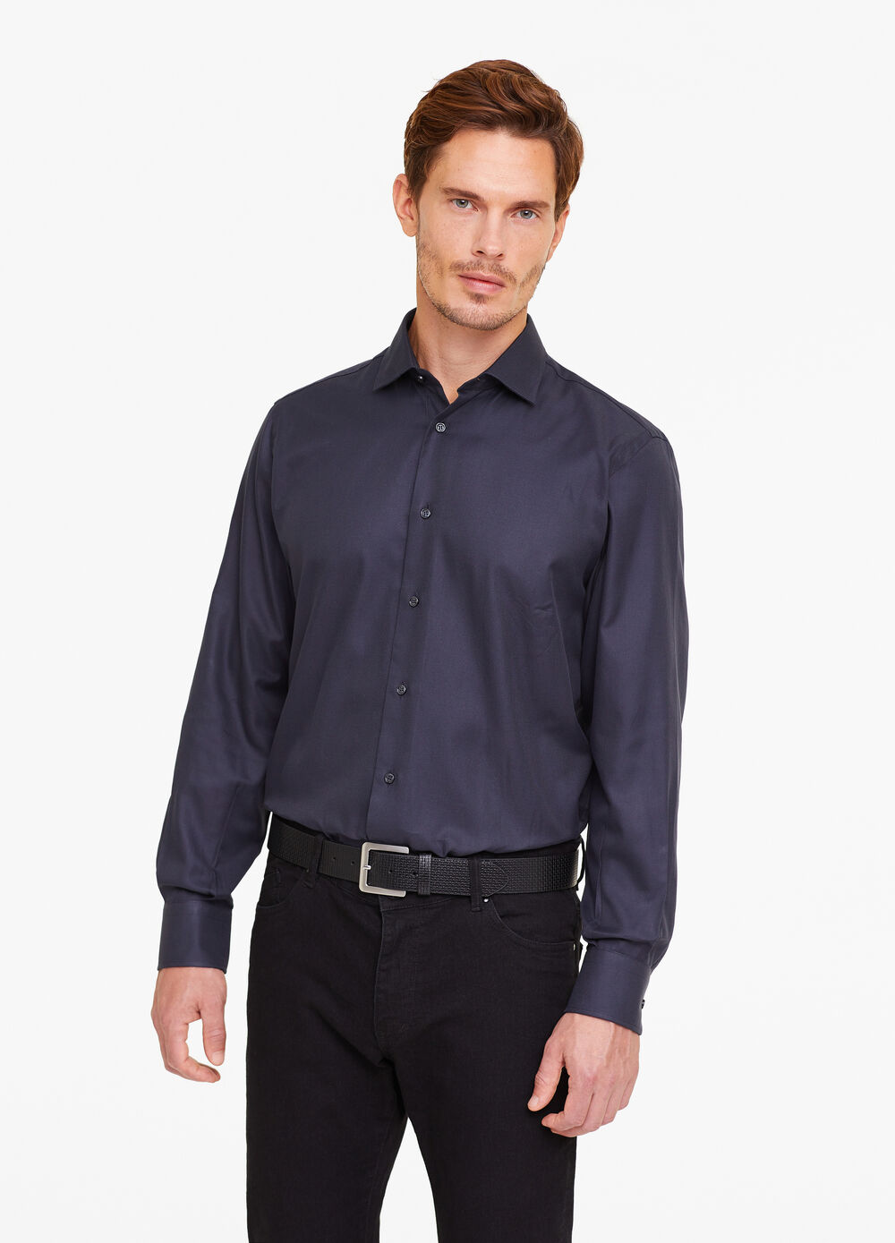 Camicia formale slim fit trama righe