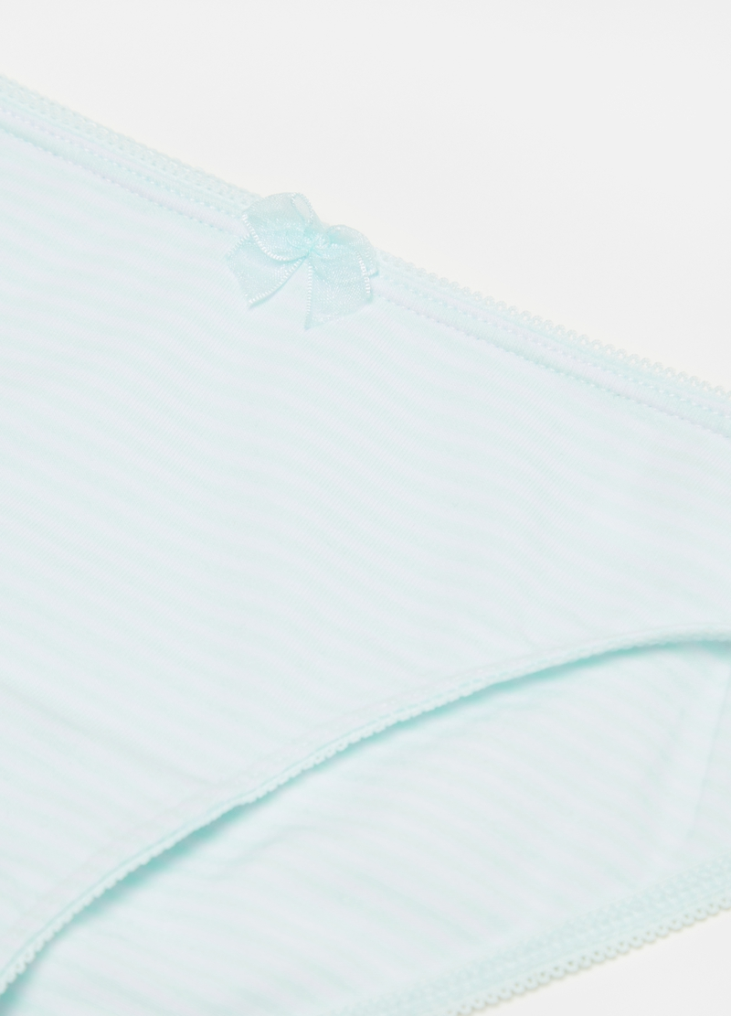 Striped briefs with bow image number null