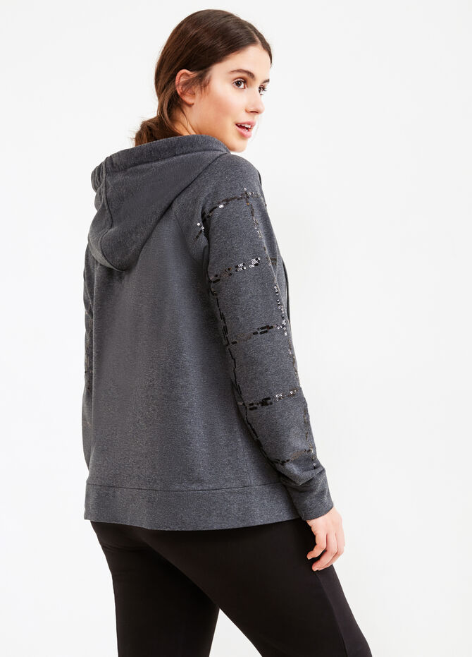 Curvy sweatshirt with asymmetrical zip