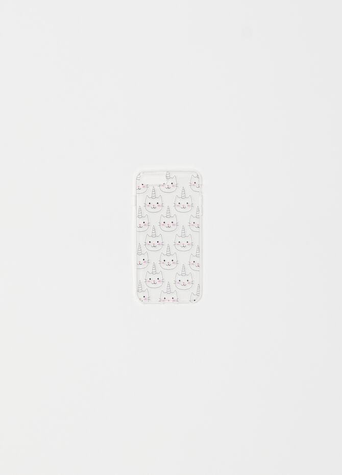 Transparent telephone cover with cats
