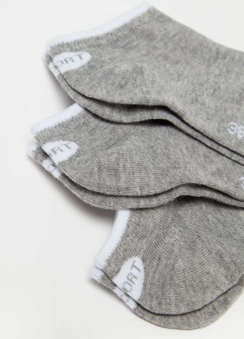 Three-pair pack stretch ankle socks image number null