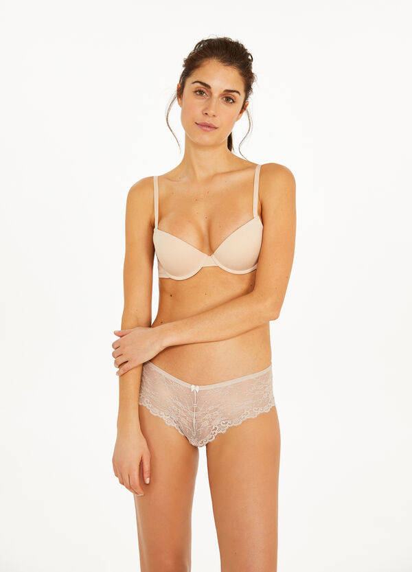 Push-up stretch cotton bra