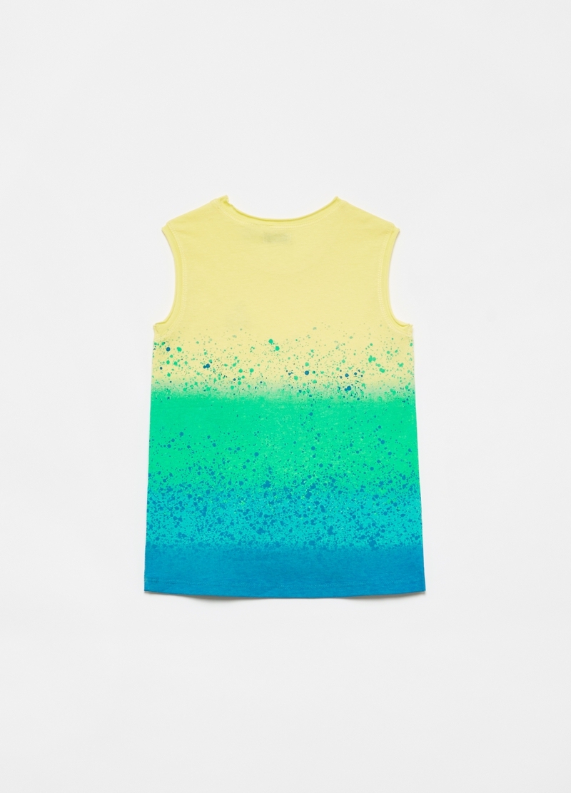100% cotton racerback vest with faded effect image number null
