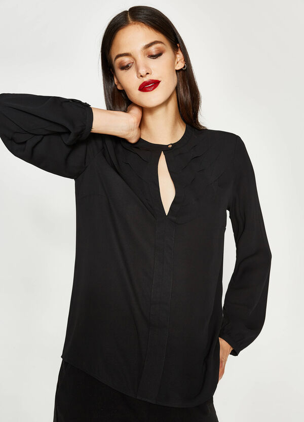 Blouse with opening and flounce | OVS