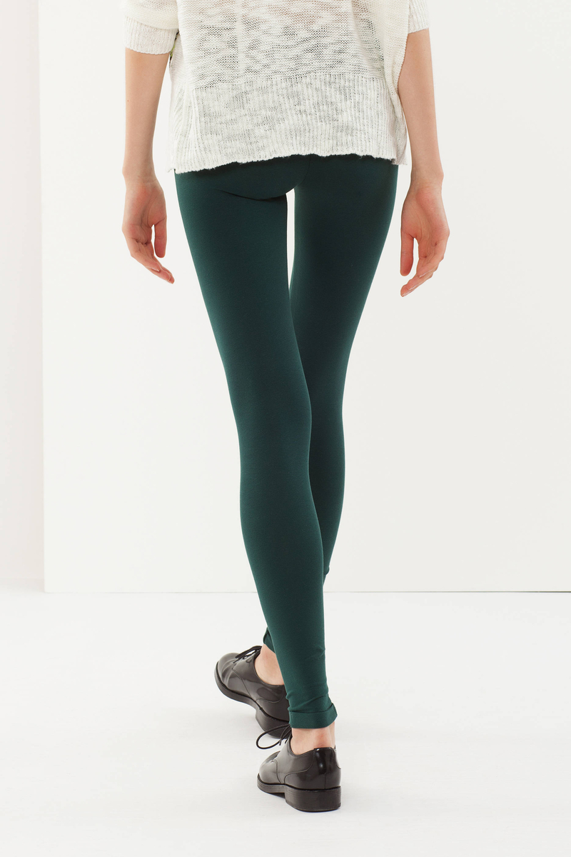 Stretch cotton leggings image number null