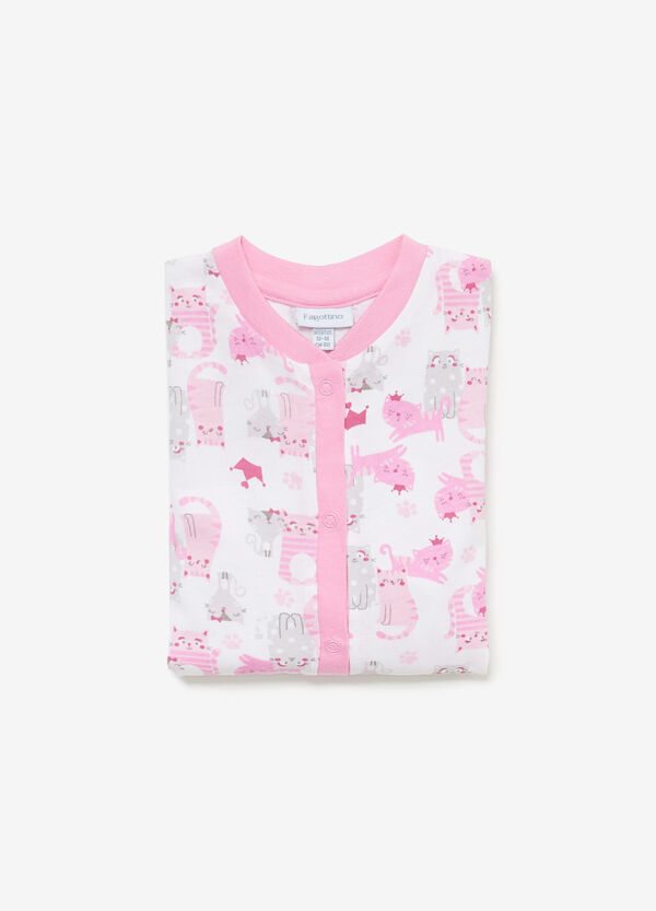 Sleepsuit in 100% cotton with kittens