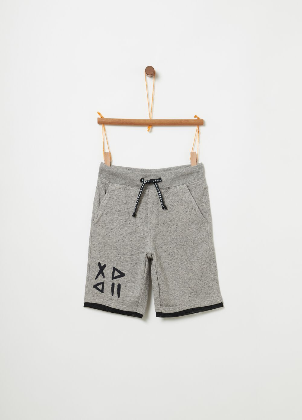 Shorts in French Terry stretch mélange