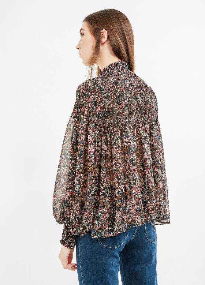 Blouse with all-over floral print